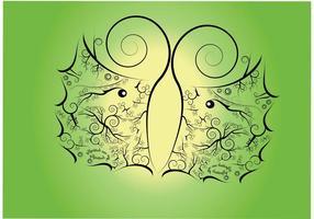 Fond de vecteur papillon