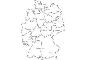 Deutschlandkarte-germany-map-vector