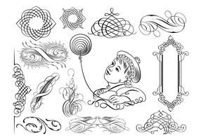 Kalligrafische Ornamenten in vector