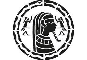 Ägyptische Mosaik Vektor
