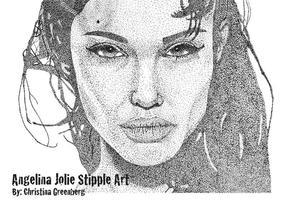 Angelina-jolie-stipple-art-vector