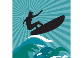 Vetor simples de surf