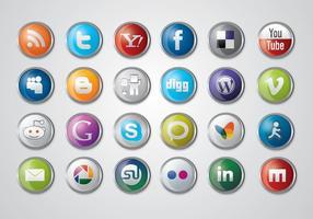 Pack d'icônes des médias sociaux