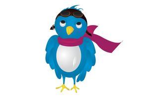 Pilot Twitter Bird Vector