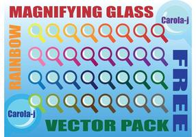 Rainbow Förstoringsglas Vector Pack