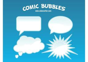 Comic bubble vectoren