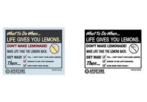 'If life gives you lemons' Vector