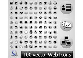 100 Vector web icons