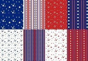 Paquete de patrones de vector de estrellas y rayas