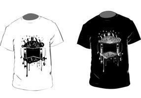 Svartvit T-shirt Vektor
