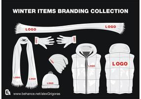 Winter Items Vector Collectie