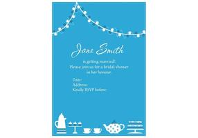 Invitation Vector for Bridal Shower