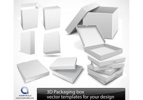 3D Packaging box vector templates for your design