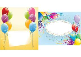 Party Tags Vector Bakgrund Pack