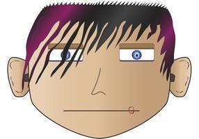 Emo, Punk, Angry Face Vectors