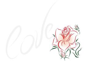 Rose Flower Vector - Love and Roses Vector