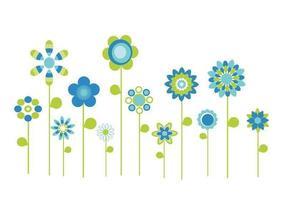 Pacote estilizado de vetores de flores