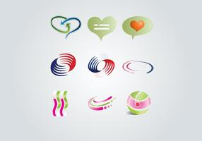 Ensemble d'éléments de logo