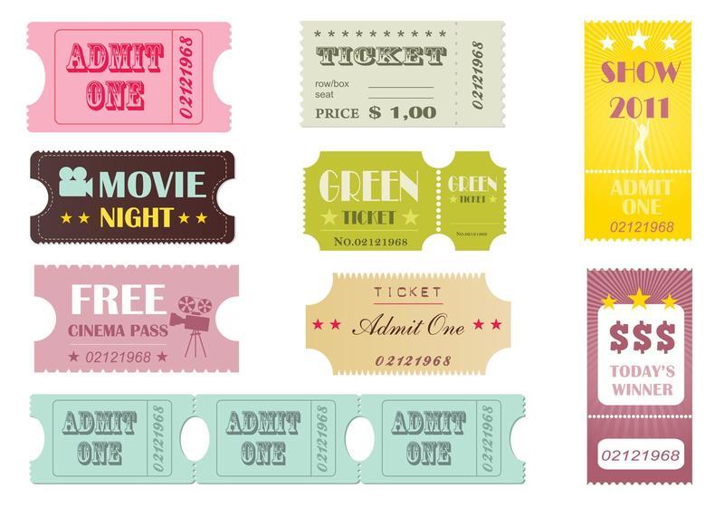 Concert Ticket Free Vector Art 496 Free Downloads – Blank Admit One Ticket Template