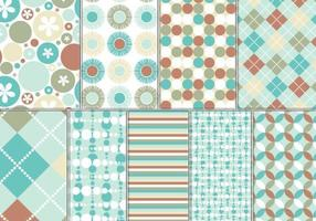 Turquoise and Rust Vector Pattern and Wallpaper Pack