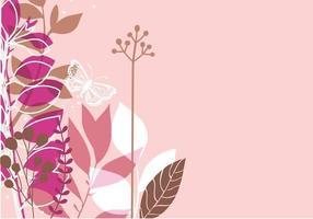 Papel de parede tonificado rosa do vetor da borboleta