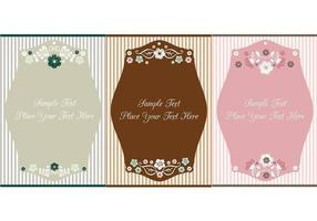 Vintage floral label vector pack