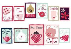 Coffee and Tea Stamp Vector Pack
