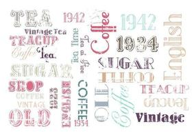 Vintage Coffee and Tea Vector Pack