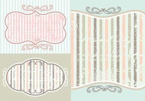 Vintage Hintergrund Wallpaper Vector Pack