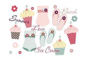Summery-beach-vector-pack