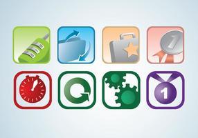 Zwei von vier Icon Set