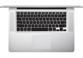 macbook pro (top view) free vector