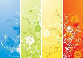 Four Seasons Vector Wallpaper Pack