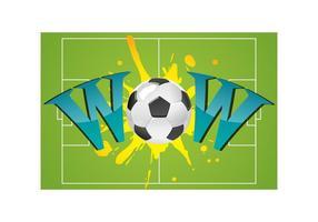 Wow con balón de fútbol