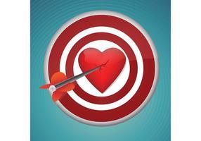 Brekend hart met de dart