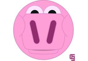 Cartoon-pig-face-vector
