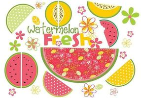 Fresh-watermelon-vector-pack