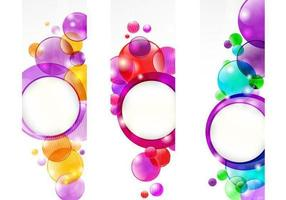 Bubble-header-vector-pack
