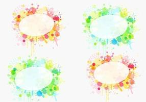 Paint Splat Etikett Vector Pack