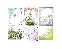 Vector Marcos florales, bordes y esquinas