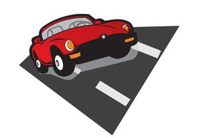 Speed - Red Car Vector