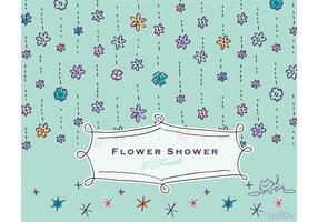Flower Vector KAWAII Flower Shower & Cat Vector
