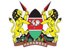 Vecteur d'emblème Kenyan gratuit