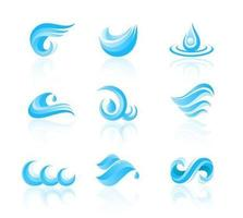 Water and Waves Icons Vectors
