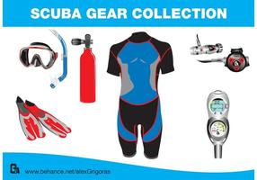 Scuba Gear Collection Vectors
