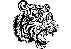 Tribal Tiger Vector