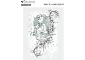 Free vintage vector t-shirt design