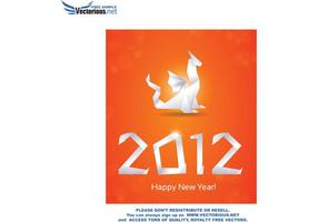 Free New Year Vector Greeting Card