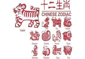 Chinese papiergesneden vectoren