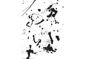 Salpicaduras de pintura y vectores de derrames